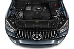 Car Stock 2021 Mercedes Benz GLE AMG-63-S 5 Door SUV Engine  high angle detail view