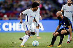 Chelsea Midfielder Willian da Silva (L) plays against FC Internazionale Midfielder Borja Valero (R) during the International Champions Cup 2017 match between FC Internazionale and Chelsea FC on July 29, 2017 in Singapore. Photo by Marcio Rodrigo Machado / Power Sport Images