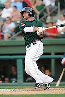 Outfielder Bryce Brentz (25) of the Greenville Drive, Class A affiliate of the Boston Red Sox, in a game against the Augusta GreenJackets on April 10, 2011, at Fluor Field at the West End in Greenville, South Carolina. (Tom Priddy / Four Seam Images)