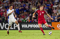 Orlando, FL - Friday Oct. 06, 2017: Blas Perez, Matt Besler during a 2018 FIFA World Cup Qualifier between the men's national teams of the United States (USA) and Panama (PAN) at Orlando City Stadium.