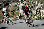 Dylan van Baarle (NED) Ineos Grenadiers and Ion Izagirre Insausti (ESP) Astana-Premier Tech attack on the Cote de Duranas during Stage 8 of Paris-Nice 2021, running 92.7km from Le Plan-du-Var to Levens, France. 14th March 2021.<br /> Picture: ASO/Fabien Boukla | Cyclefile<br /> <br /> All photos usage must carry mandatory copyright credit (© Cyclefile | ASO/Fabien Boukla)
