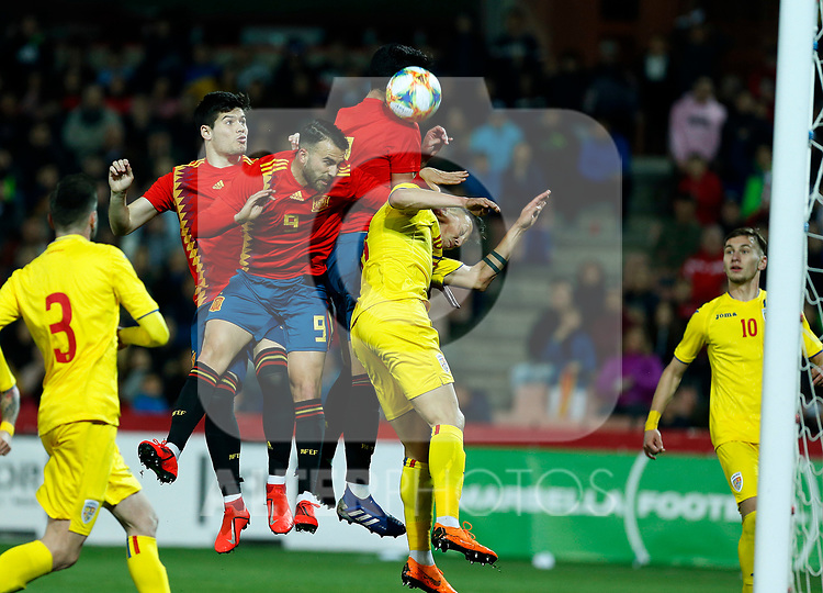 Spain's Jorge Mere, Spain's Borja Mayoral and Spain's Mikel Merino  during the International Friendly match on 21th March, 2019 in Granada, Spain. (ALTERPHOTOS/Manu R.B.)