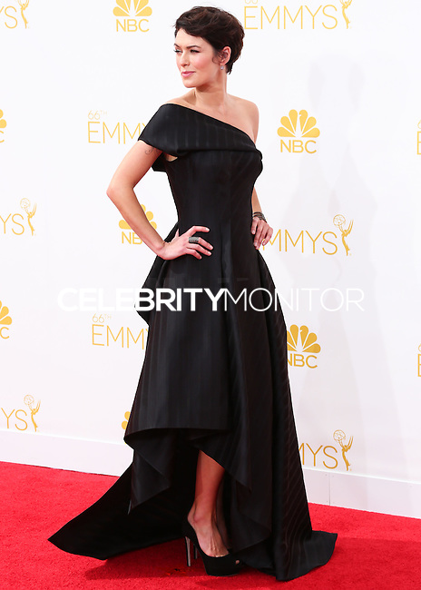 LOS ANGELES, CA, USA - AUGUST 25: Actress Lena Headey arrives at the 66th Annual Primetime Emmy Awards held at Nokia Theatre L.A. Live on August 25, 2014 in Los Angeles, California, United States. (Photo by Celebrity Monitor)