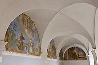 Europe/France/Provence-Alpes-Côtes d'Azur/06/Alpes-Maritimes/Alpes-Maritimes/Arrière Pays Niçois/Saorge: Peintures du Cloitre du Couvent des Franciscains
