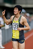 EUGENE, OR--China's Liu Xiang wins the men's 110m hurdles with a time of 13.23 at  the Steve Prefontaine Classic, Hayward Field, Eugene, OR. SUNDAY, JUNE 10, 2007. PHOTO © 2007 DON FERIA