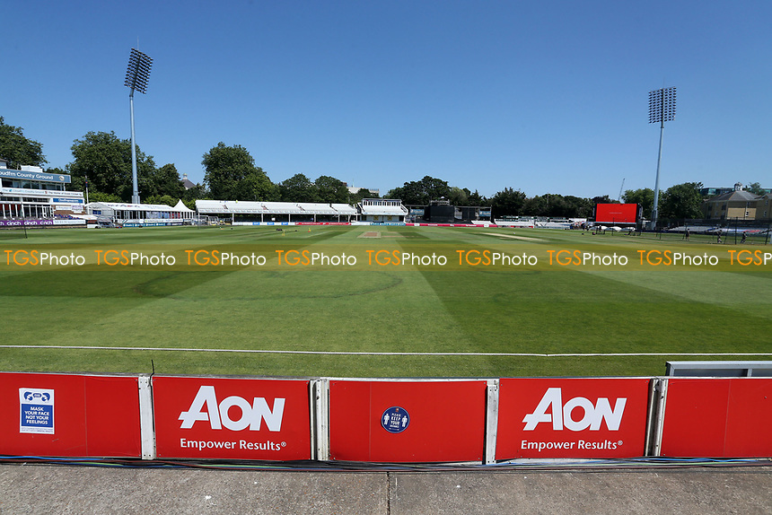 General view of the ground ahead of Essex Eagles vs Middlesex, Vitality Blast T20 Cricket at The Cloudfm County Ground on 18th July 2021