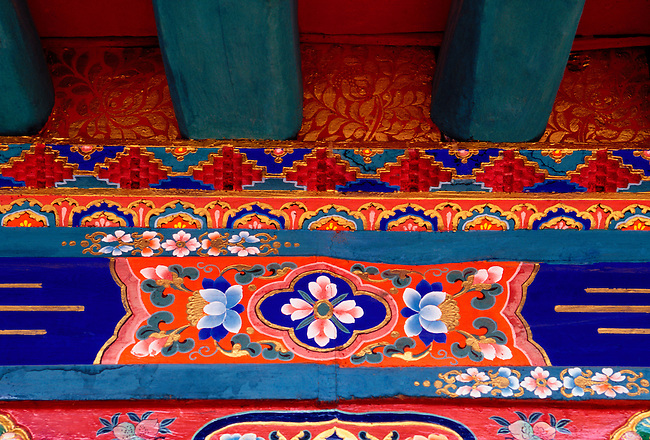 Courtyard in Jokhang Temple, Lhasa, Tibet, Tibetan Autonomous Region, China, Asia