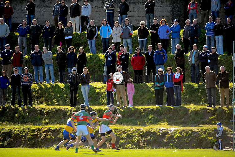 The elevated crowd looks on as Sixmilebridge and Clooney-Quin battle it out during their Intermmediate semi final at Tulla. Photograph by John Kelly.