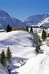 Oesterreich, Kleinwalsertal, Winterlandschaft bei Mittelberg vor Allgaeuer Alpen | Austria,  Kleinwalsertal, Winter Scenery near Mittelberg and Allgaeuer Alps