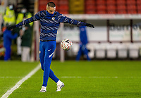 11th February 2021; Oakwell Stadium, Barnsley, Yorkshire, England; English FA Cup 5th round Football, Barnsley FC versus Chelsea; Hakim Ziyech of Chelsea warms up as he starts for Chelsea