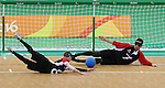 Simon Richard and Doug Ripley, Rio 2016 - Goalball.<br /> Team Canada plays Brazil in the men's goalball // Équipe Canada affronte le Brésil au goalball masculin. 09/09/2016.