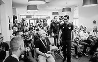 """Team Trek-Segafredo press conference 1 day before the start of the 104th Tour de France 2017 at """"Le Grand Départ"""" in Düsseldorf/Germany"""