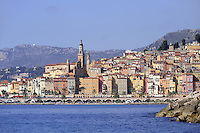 - France, French Riviera, Menton from the sea<br /> <br /> - Francia, Costa Azzurra, Mentone vista dal mare