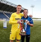 06.05.2019 Falkirk v Rangers reserves: Kieran Wright and Liam Burt