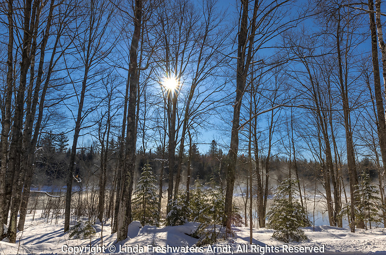 A frigid morning on the Chippewa River in northern Wisconsin.