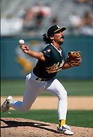 OAKLAND, CA - Dennis Eckersley of the Oakland Athletics in action at the Oakland Coliseum in Oakland, California on April 15, 1994. Photo by Brad Mangin