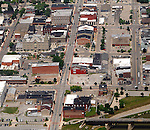 Aerial photos of the downtown area in Piqua, Ohio.