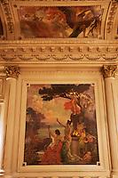 Europe/France/Aquitaine/64/Pyrénées-Atlantiques/Pays-Basque/Biarritz:  L' Hôtel du Palais  ou  Villa Eugénie _ Peinture murale d'un des salons [Non destiné à un usage publicitaire - Not intended for an advertising use]