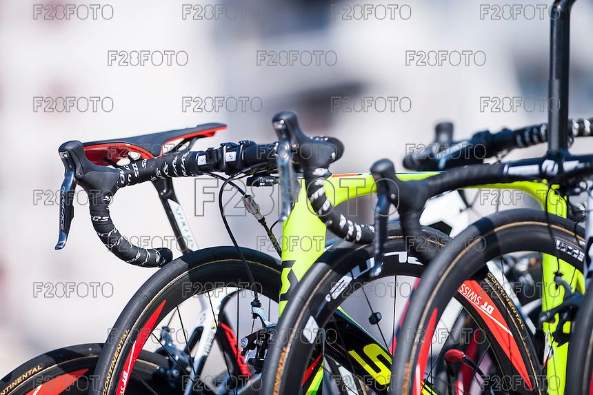 Castellon, SPAIN - SEPTEMBER 7: Scott bikes during LA Vuelta 2016 on September 7, 2016 in Castellon, Spain