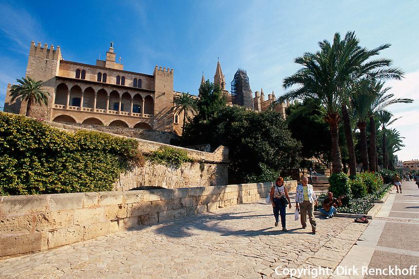 Spanien, Mallorca, Palast Almudaina in Palma de Mallorca