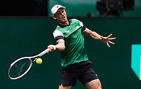 Rotterdam, The Netherlands, 2 march  2021, ABNAMRO World Tennis Tournament, Ahoy, First round match: Alex de Minaur (AUS) John Millman (AUS).<br /> Photo: www.tennisimages.com/henkkoster