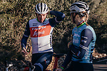 Former World Champions Mads Pedersen (DEN) and Amalie Dideriksen (DEN) part of the Trek–Segafredo 2021 team chat during their winter training camp. 18th January 2021.<br /> Picture: Jojo Harper/Trek Factory Racing | Cyclefile<br /> <br /> All photos usage must carry mandatory copyright credit (© Cyclefile | Jojo Harper/Trek Factory Racing)