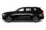 Car driver side profile view of a 2020 Volvo XC90 R-Design 5 Door SUV