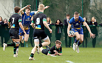 Wednesday 20th March 2019 | 2019 Schools Shield Final<br /> <br /> Aaron Sexton during the 2019 Ulster Schools Cup Final between Sullivan and Bangor Grammar at The Dub Arena, Queens University, Belfast, Northern Ireland. Photo by John Dickson / DICKSONDIGITAL