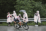 Polka Dot Jersey Wout Poels (NED) Bahrain Victorious on the Col du Pré during Stage 9 of the 2021 Tour de France, running 150.8km from Cluses to Tignes, France. 4th July 2021.  <br /> Picture: A.S.O./Pauline Ballet   Cyclefile<br /> <br /> All photos usage must carry mandatory copyright credit (© Cyclefile   A.S.O./Pauline Ballet)