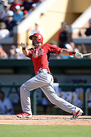 St. Louis Cardinals shortstop Luis Mateo (86) during a spring training game against the Detroit Tigers on March 3, 2014 at Joker Marchant Stadium in Lakeland, Florida.  Detroit defeated St. Louis 8-5.  (Mike Janes/Four Seam Images)