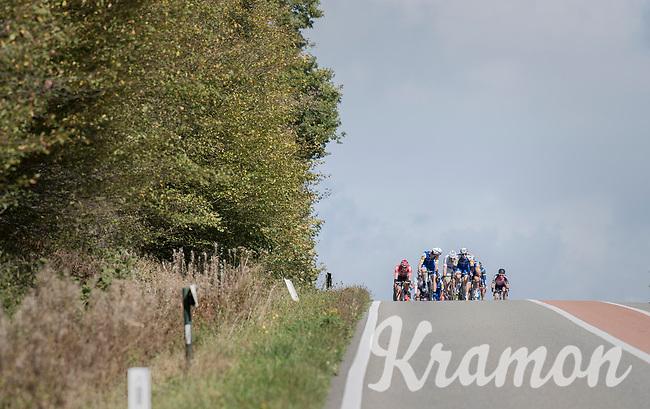 Team Quickstep Floors setting the pace<br /> <br /> Binche-Chimay-Binche 2017 (BEL) 197km<br /> 'Mémorial Frank Vandenbroucke'