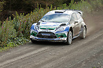 14th September 2012 - Devils Bridge - Mid Wales : WRC Wales Rally GB SS6 Myherin stage :  Petter Solberg (NOR) and co driver Chris Patterson (GBR) in their Ford Fiesta RS WRC.