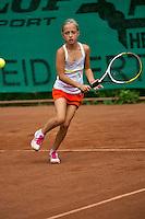 August 4, 2014, Netherlands, Dordrecht, TC Dash 35, Tennis, National Junior Championships, NJK,  Britt van Zeelst (NED)<br /> Photo: Tennisimages/Henk Koster