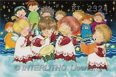 Interlitho, Soledad, CHRISTMAS CHILDREN, naive, paintings, kids, singing(KL2324,#XK#) Weihnachten, Navidad, illustrations, pinturas