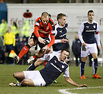 Kenny Miller chopped down on the edge of the box