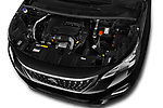 Car stock 2018 Peugeot 3008 Active 5 Door SUV engine high angle detail view