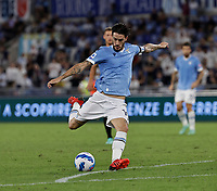28th August 2021; Olympic Stadium, Rome, Italy; Serie A football, SS Lazio versus AC Spezia : Luis Alberto of Lazio shoots and scores for 6 -1 on 85 minutes