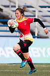 Yani Wang of China runs in a try during the Asia Rugby U20 Sevens 2017 at King's Park Sports Ground on August 4, 2017 in Hong Kong, China. Photo by Yu Chun Christopher Wong / Power Sport Images