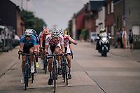 defending champion Mathieu van der Poel (NED/Corendon-Circus) leading the way<br /> <br /> 3rd Dwars Door Het hageland 2018 (BEL)<br /> 1 day race:  Aarschot > Diest: 198km