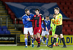 St Johnstone v St Mirren…16.01.21   McDiarmid Park     SPFL<br />Shaun Rooney at full time with Joe Shaughnessy<br />Picture by Graeme Hart.<br />Copyright Perthshire Picture Agency<br />Tel: 01738 623350  Mobile: 07990 594431