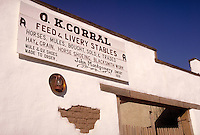 The O.K. Corral was the site of the famous Earp and Clanton gunfight on Oct. 26, 1881. Tombstone Arizona USA.