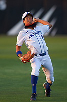 IMG Academy Ascenders Takeru Ohashi (8) during warmups before a game on February 28, 2020 at IMG Academy in Bradenton, Florida.  (Mike Janes/Four Seam Images)