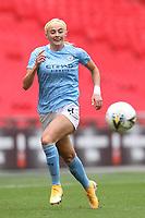 29th August 2020; Wembley Stadium, London, England; Community Shield Womens Final, Chelsea versus Manchester City; Chloe Kelly of Manchester City Women breaks forward on a through ball