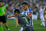 Leganes' Alexander Szymanowski and Real Sociedad's Juan Miguel Jimenez during La Liga match. August 24, 2018. (ALTERPHOTOS/A. Perez Meca)