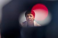 """Pressekonferenz der Menschenrechtsorganisation """"Terre des Femmes"""" am Donnerstag den 23. August 2018 in Berlin, anlaesslich ihrer Petition """"Den Kopf frei haben!"""", die sich fuer ein Verbot des sogenannten """"Kinderkopftuch"""" fuer Maedchen unter 18 Jahren einsetzt. Fuer Terre des Femmes ist das Kinderkopftuch der Missbrauch von Kindern fuer eine Religion und eine Kinderrechtsverletzung.<br /> Ziel der Unterschriftensammlung fuer die Petition sind 100.000 Unterschriften.<br /> Im Bild: Seyran Ates, Rechtsanwaeltin und Imamin an der liberalen Ibn-Rushd-Goethe-Moschee in Berlin.<br /> 23.8.2018, Berlin<br /> Copyright: Christian-Ditsch.de<br /> [Inhaltsveraendernde Manipulation des Fotos nur nach ausdruecklicher Genehmigung des Fotografen. Vereinbarungen ueber Abtretung von Persoenlichkeitsrechten/Model Release der abgebildeten Person/Personen liegen nicht vor. NO MODEL RELEASE! Nur fuer Redaktionelle Zwecke. Don't publish without copyright Christian-Ditsch.de, Veroeffentlichung nur mit Fotografennennung, sowie gegen Honorar, MwSt. und Beleg. Konto: I N G - D i B a, IBAN DE58500105175400192269, BIC INGDDEFFXXX, Kontakt: post@christian-ditsch.de<br /> Bei der Bearbeitung der Dateiinformationen darf die Urheberkennzeichnung in den EXIF- und  IPTC-Daten nicht entfernt werden, diese sind in digitalen Medien nach §95c UrhG rechtlich geschuetzt. Der Urhebervermerk wird gemaess §13 UrhG verlangt.]"""