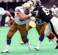 David Black Winnipeg Blue Bombers 1986. Photo F. Scott Grant