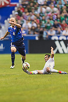 United States' midfielder Michael Bradley (4) chases the ball during an international friendly at the Alamodome, Wednesday, April 15, 2015 in San Antonio, Tex. USA defeated Mexico 2-0. (Mo Khursheed/TFV Media via AP Images)