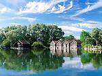 Germany, Bavaria, Upper Bavaria, Ammer Lake, Diessen: boathouse