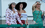 July 18, 2020: Fans watch a race intently on Haskell Invitational Day at Monmouth Park Racecourse in Oceanport, New Jersey. Scott Serio/Eclipse Sportswire/CSM