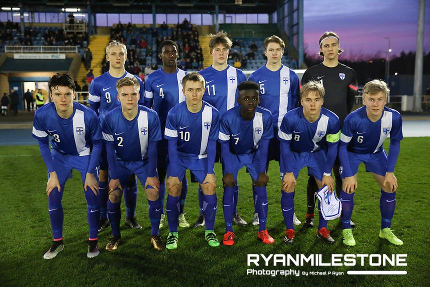International Friendly<br /> Rep of Ireland U17 v Finland U17<br /> Friday 22nd March 2019,<br /> RSC, Waterford.<br /> Finland team pose for a team photograph.<br /> Mandatory Credit: Michael P Ryan